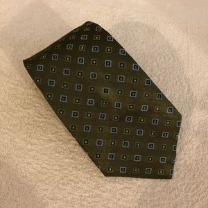 Brooks Brothers Olive w/ Blue & Navy Check Tie